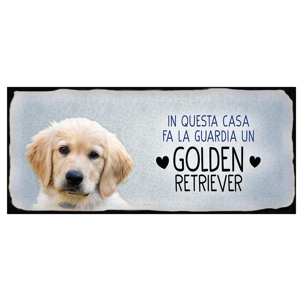 Targa Metallo Golden Retriever